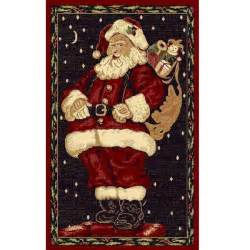 Round Rug Sale Santa Claus Holiday Area Rug 3 X 5 Free Shipping