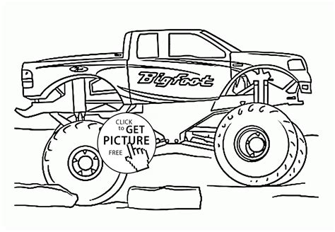 videos of monster trucks for kids pin bigfoot monster truck coloring pages cars big foot