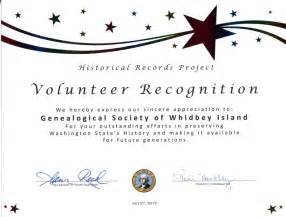 Volunteer Certificate Templates For Word by Gsswi Awards