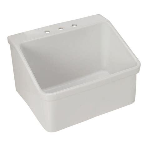 Single Hole Kitchen Faucet Kohler Hollister Bracket Mount Vitreous China 28x22x17 5 3