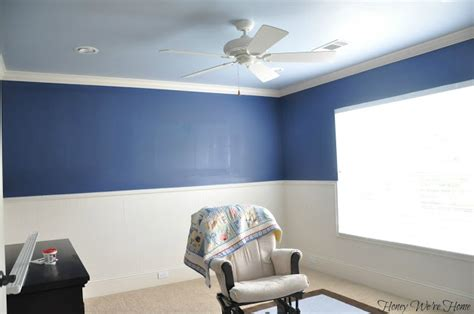 two tone blue bedroom honey we re home big boy room paint