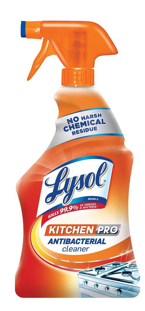 lysol kitchen pro antibacterial kitchen cleaner spray oz  harsh chemicals walmartcom