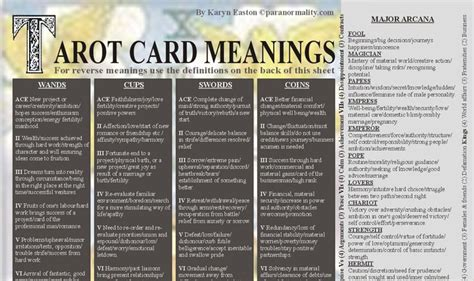 Meaning Of Gift Card - tarot lovers com the complete guide to tarot cards their meanings spreads and