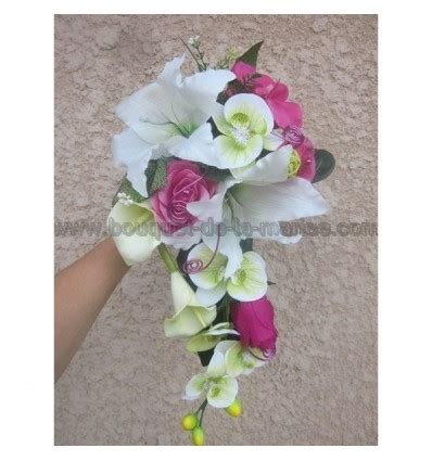 Marriage Bouquet by Bouquet Mari 233 E Tombant Avec Des Orchid 233 Es Vertes Et