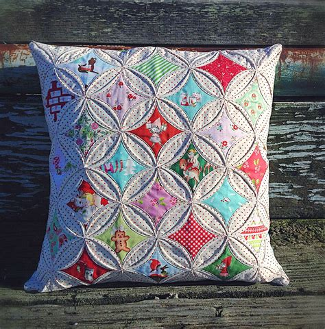 How To Do Cathedral Window Patchwork - lovely handmades cathedral windows pillow tutorial