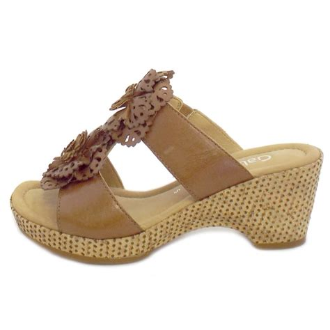 Wedges Pin Merak 4 5cm gabor sandals degner wedge summer shoes in brown leather