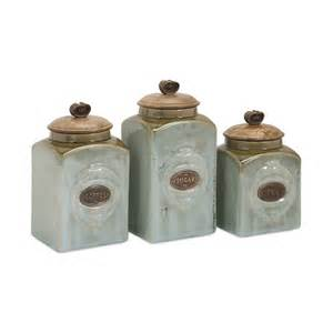 kitchen canisters ceramic imax worldwide 73327 3 ceramic canisters set of