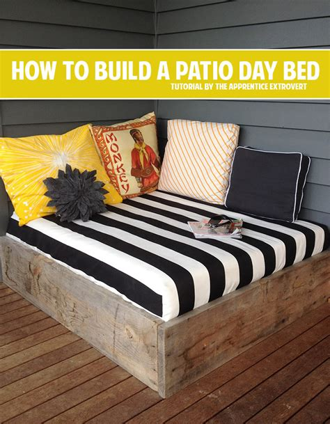how to build a day bed patio bed diy modern patio outdoor