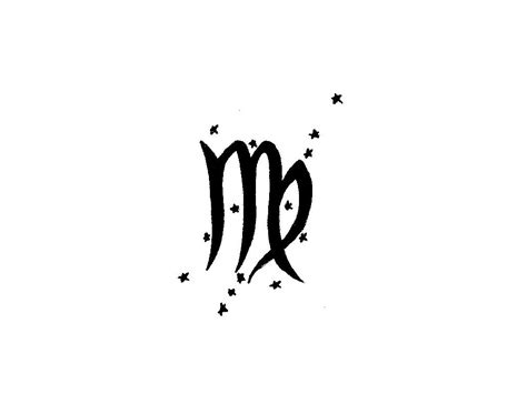 virgo zodiac symbol tattoo design 25 virgo zodiac tattoos designs