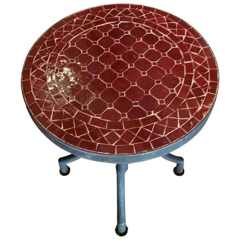 Mosaic L Base by All Burgundy Mosaic Table Wrought Iron Base For Sale At