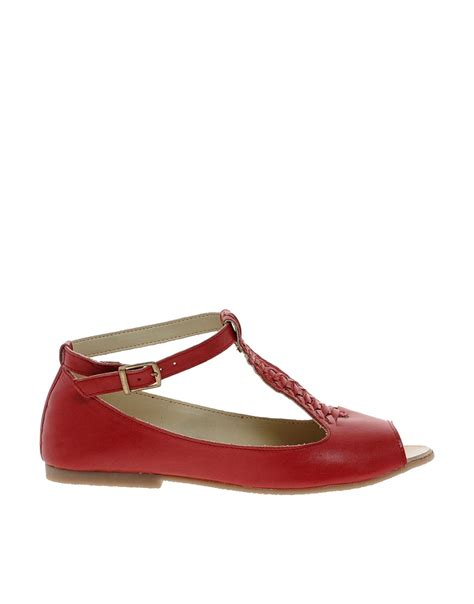 flat shoes asos asos asos jive leather flat shoes at asos