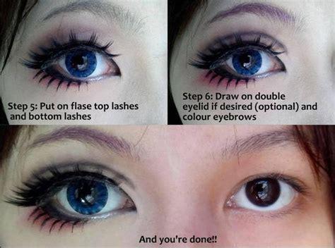 fake lashes makeup tutorial  big eyes alldaychic