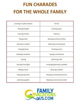 5 best images of printable adult charades words free games to play on thanksgiving family fun free games
