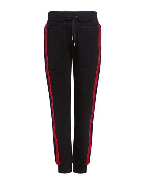 Striped Velvet Sweatpants school lucia velvet stripe terry