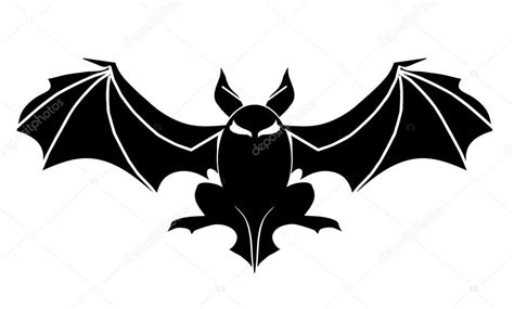 fledermaus tattoo symbol f 252 r halloween stockvektor