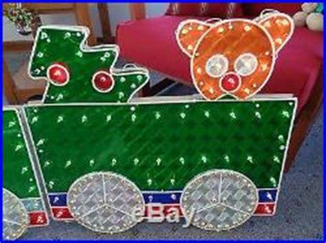 christmas outdoor halogrphic train decoration 4 holographic lighted motion set yard decoration 8 5 decor