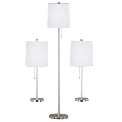 floor l and table combo alsy combo brushed nickel l set 3 piece 20007 001