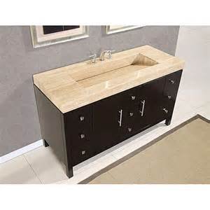 sink bathroom vanities tops  travertine stone top  inch dark walnut bathroom single sink vanity
