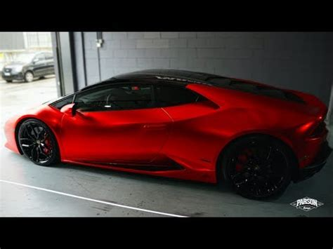 red chrome lamborghini lamborghini hurac 193 n wrapped satin chrome red youtube