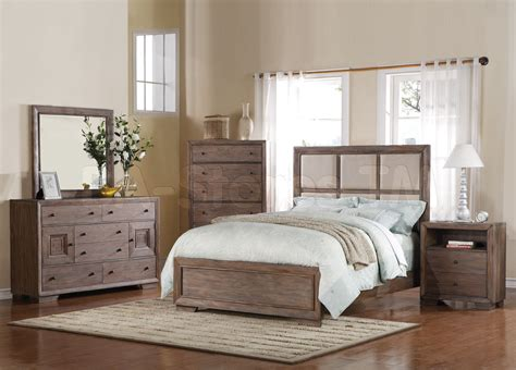 distressed wood bedroom furniture equinox 5 pc bedroom set in distressed ash acme furniture