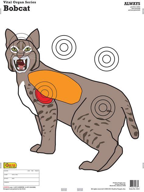 printable deer vital targets bobcat 15610 gunfun shooting targets