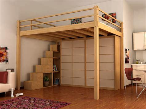 Bett Holz 100x200 by Yen Loft Bed By Cinius