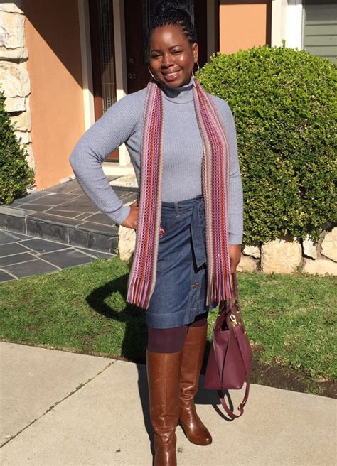 how to wear a denim skirt in the winter keryb