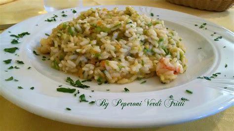 gamberi e fiori di zucca risotto con fiori di zucca zucchine e gamberi peperoni