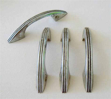 vintage kitchen cabinet pulls retro chrome kitchen cabinet hardware 50s vintage style