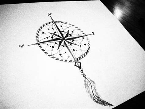 dreamcatcher compass tattoo neck compass dreamcatcher tattoo google search tattoos