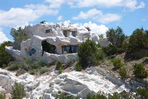 flinstones house camouflage home in lamy new mexico reminds us of the flintstones house photo huffpost