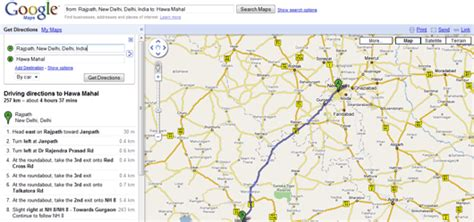 get printable directions find detailed driving directions for indian cities from