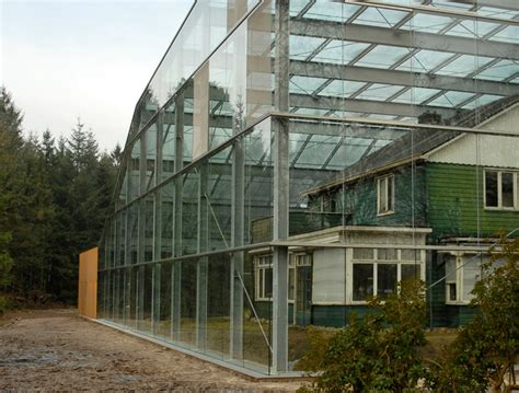 glass box house oving architecten envelopes former concentration c