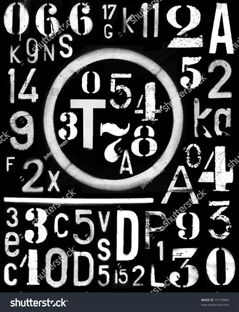 spray paint industrial font spraypaint industrial font number alpha template stock