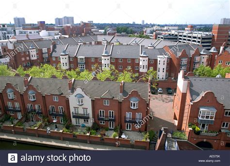 rent to buy houses in birmingham new canalside housing development symphony court in birmingham stock photo royalty