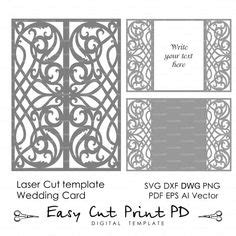 laser cut gate card template wedding invitation pattern card 5x7 quot template lace folds