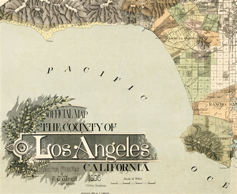 map of los angeles poster vintage map of los angeles 1898 united states