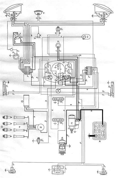1953 Bus Wiring Diagram | TheGoldenBug.com