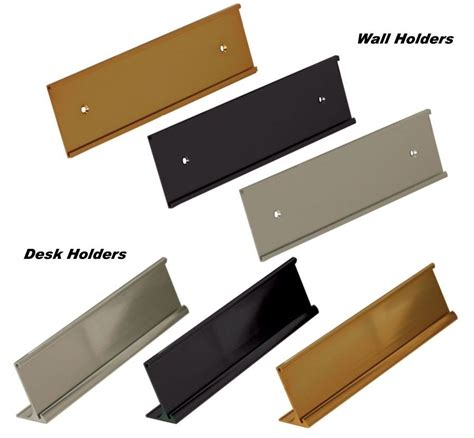 desk name plates office depot office name plate holders for 2x10 wall mount or desk top