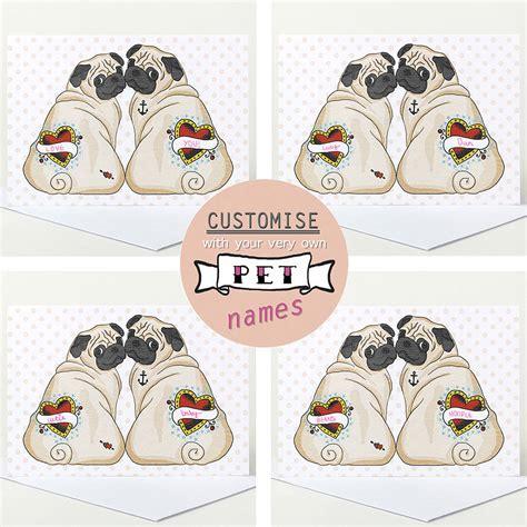 pug valentines card pug cards images
