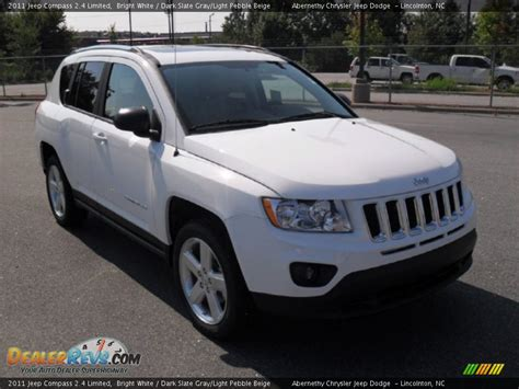 Jeep Compass 2011 White 2011 Jeep Compass 2 4 Limited Bright White Slate