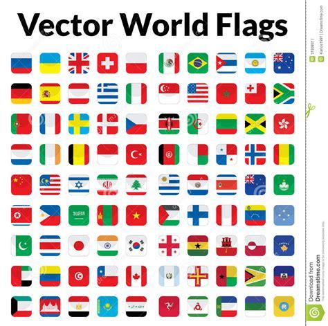flags of the world vector vector world flags cartoon vector cartoondealer com