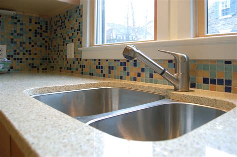 recycled kitchen countertops recycled glass countertops