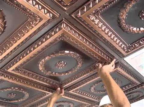 Drop Ceiling Tiles Installation by Faux Tin Drop In Ceiling Tiles Installation