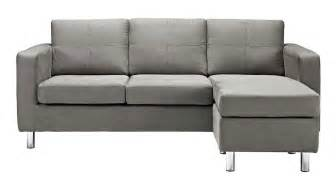 Couch Under 500 cozy modern sectional in a light gray microfiber upholstery that s