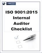 Iso 9001 2015 Internal Auditor Checklist Iso 9001 2015 Checklist Excel Template
