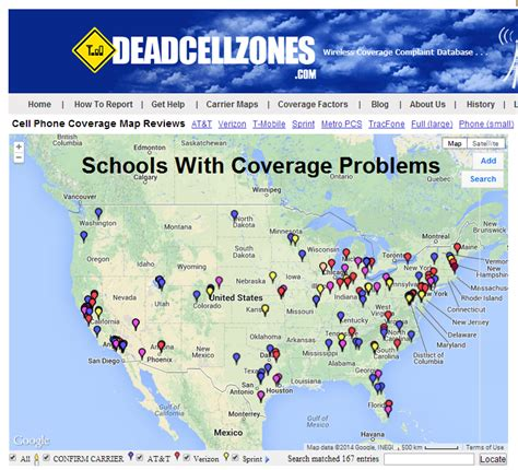 cell phone coverage  schools
