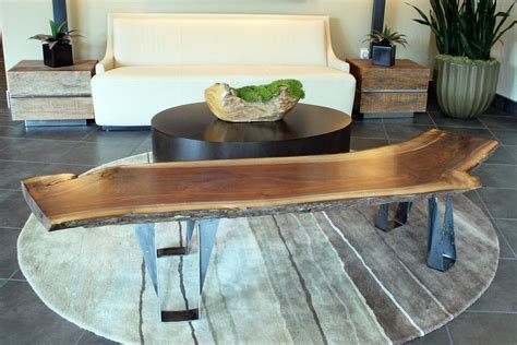tree trunk bar top thin natural brown wooden tree trunk with silver base