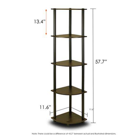 black corner shelving unit turn n 5 tier corner display rack