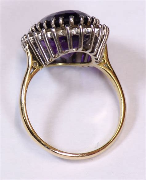 antiques atlas antique vintage amethyst and ring